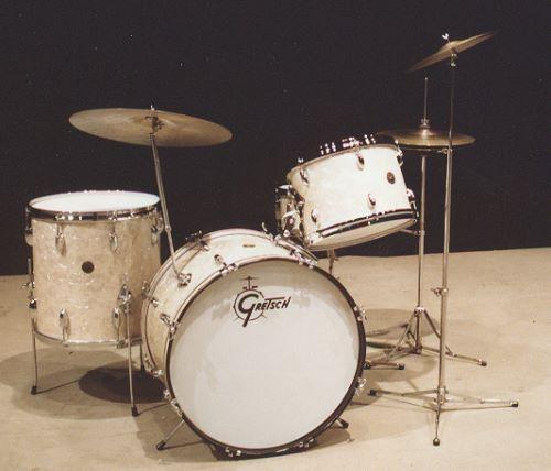 David Clive - Vintage Drum Rentals - 1950s Gretsch White Marine Pearl