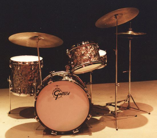 David Clive - Vintage Drum Rentals - 1960s Gretsch Black Diamond Pearl