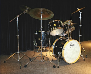 David Clive - 1990s Gretsch Black Nitron Drum Set