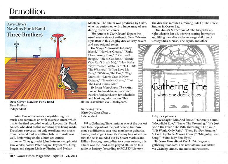David Clive Press - Good Times Magazine