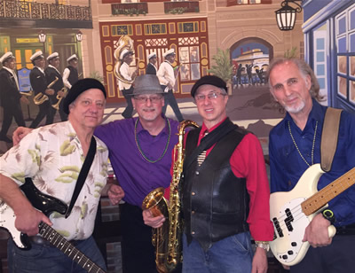 Nawlins Funk Band performing at the Nawlins Seafood Co.