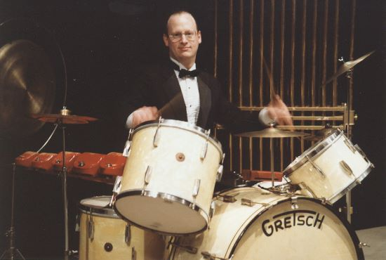 David Clive Performances - David Clive plays one of his vintage Gretsch Drum kits.
