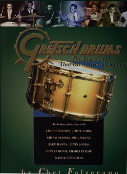 David Clive - Vintage Drum Rentals - 1935 Gretsch Broadkasters Kit displayed in The Gretsch Drum Book