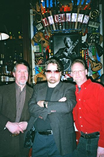 Bob P., Robert Charels, Dave Clive at B.B.King's